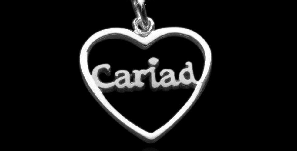 Welsh Design Cariad Heart Silver Pendant P130543