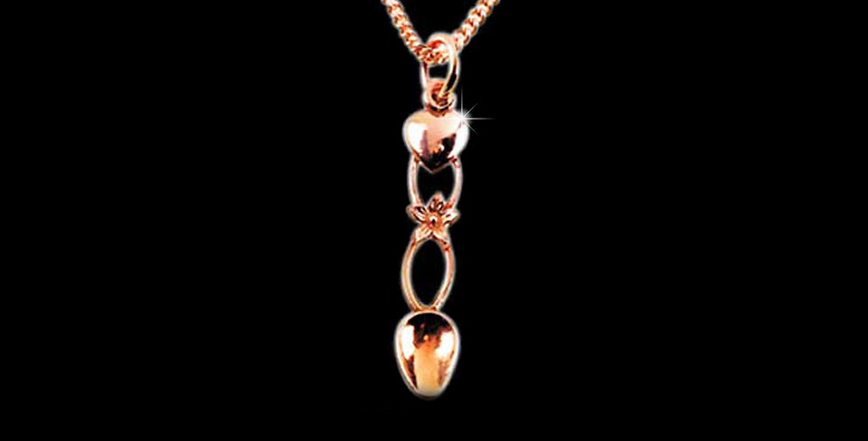 Daffodil Lovespoon Pendant Rose Gold 9ct WP17R