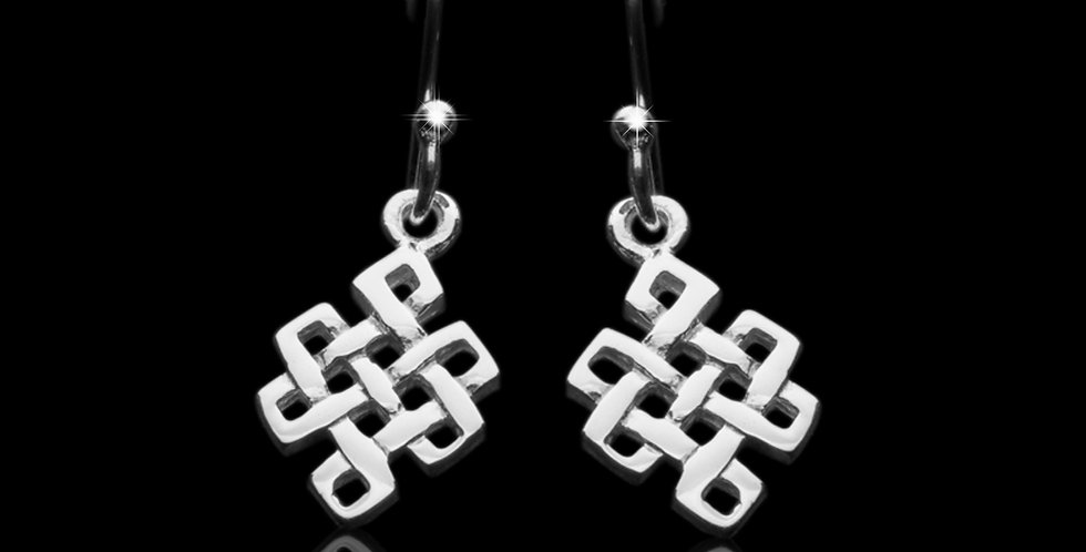 Welsh Design Celtic Drop Earrings Stirling Silver LE110933