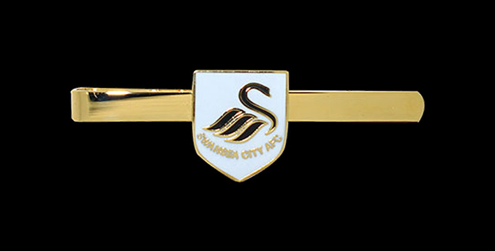 Swansea City AFC Gold Plated Enamel Tie Slide