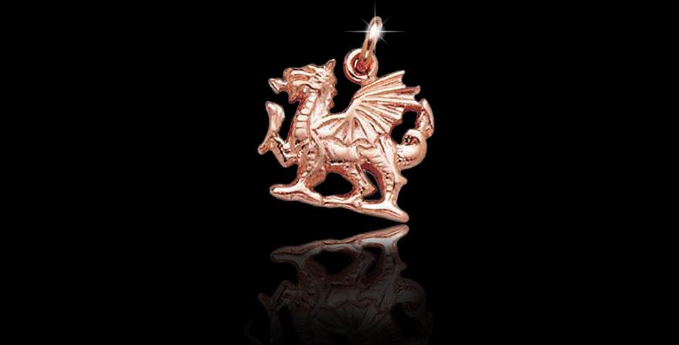 Cymru Gold Welsh Dragon Charm 9 ct Gold WCH61
