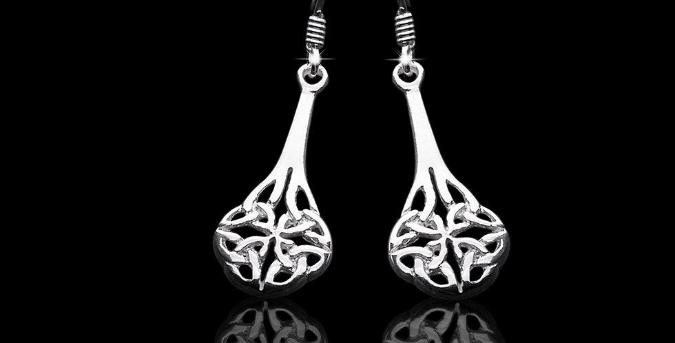 Welsh Design Celtic Drop Earrings Stirling Silver E071011