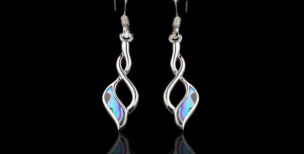 Welsh Design Abalone Drop Earrings Stirling Silver MX31