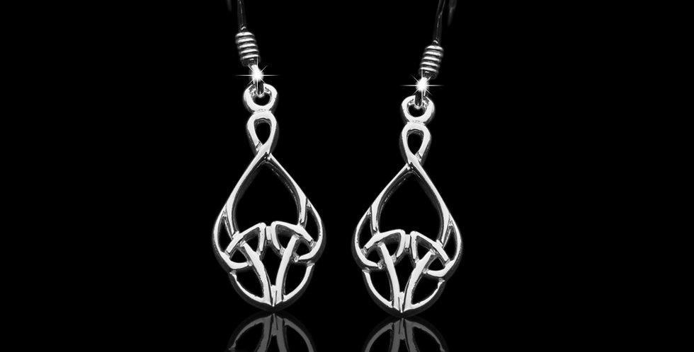Welsh Design Celtic Drop Earrings Stirling Silver LE070903