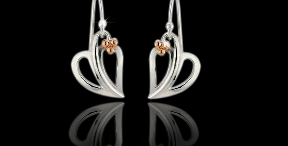 Cymru Gold Tree of Life Earrings in Silver and Rose Gold SWE1
