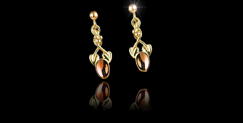 Cymru Gold Tree of Life Lovespoon Earrings Rose and Yellow Gold 9ct WE85