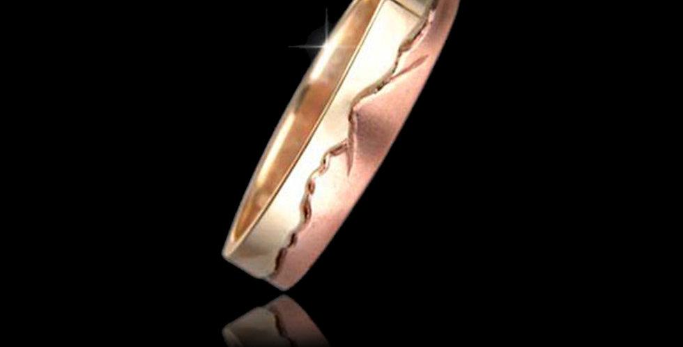 Cymru Gold Snowdon Wedding Ring