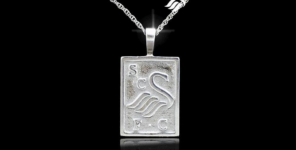 Swansea City AFC Silver Rectangle Pendant