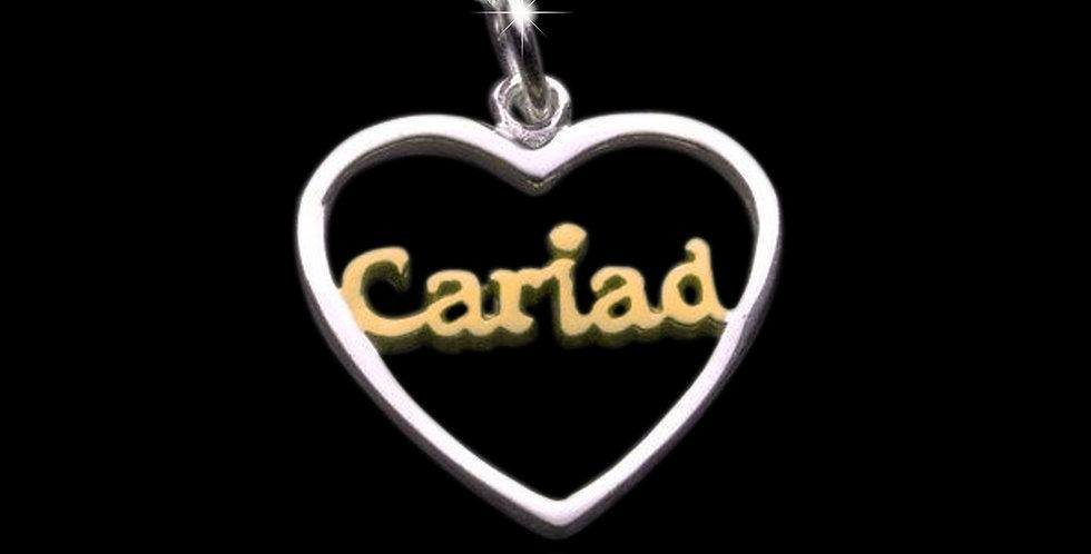 Welsh Design Cariad Heart Silver Pendant P130543-YG