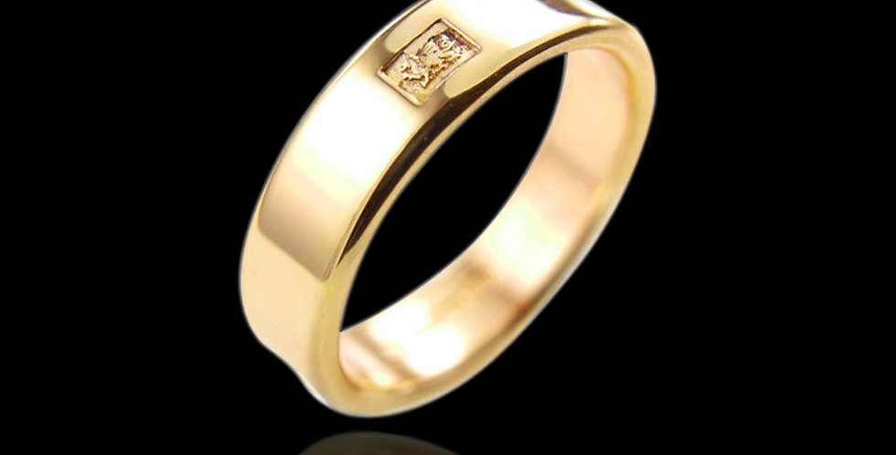 Cymru Welsh Gold Smooth Fit Wedding Ring 9ct Yellow Gold WR9D