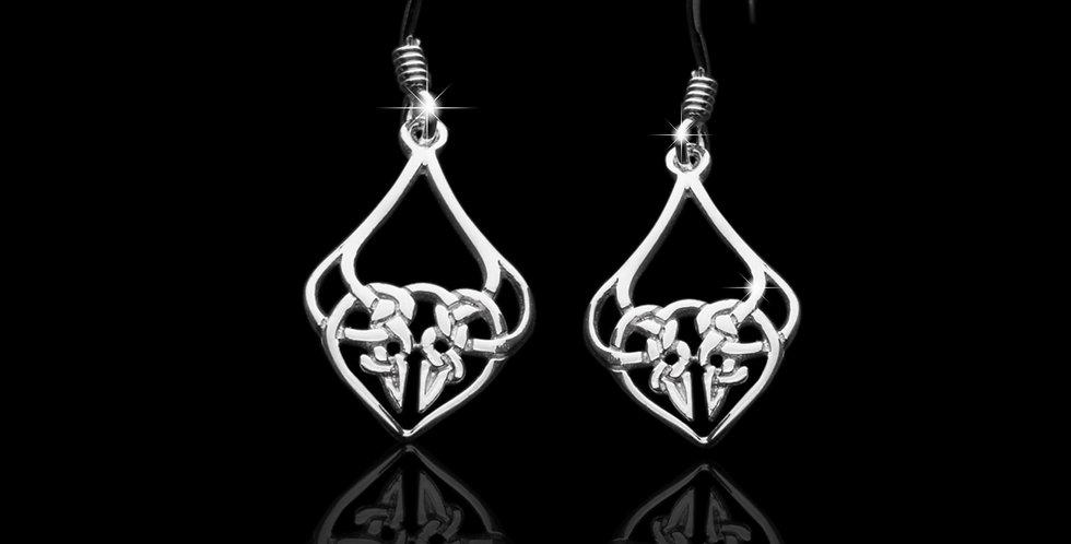 Welsh Design Celtic Drop Earrings Stirling Silver LE070372