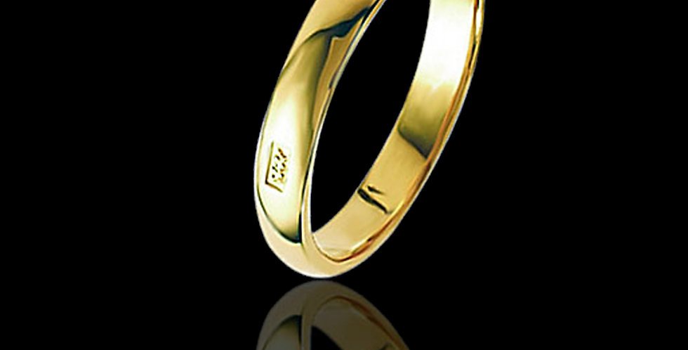 Welsh Feature Hallmark Wedding Ring Yellow 9 ct Gold
