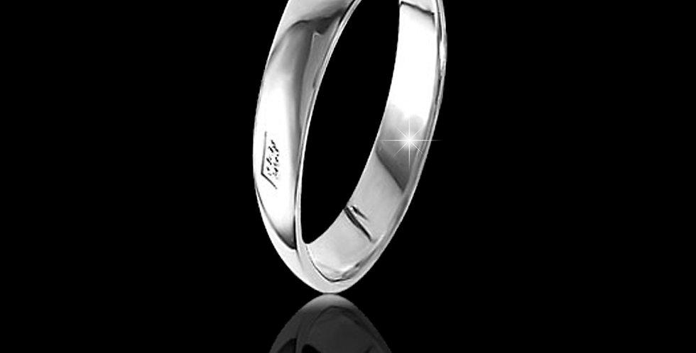 Welsh Dragon Hallmark Wedding Ring 9 ct White Gold
