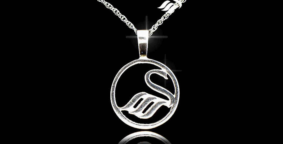 Swansea City AFC Silver Round Pendant