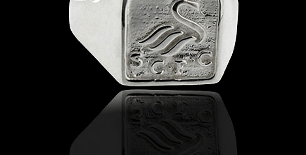 Swansea City AFC  Silver Square Gents Ring