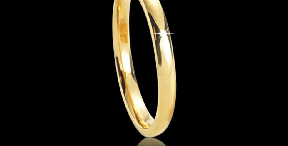Cymru Gold Court Shape Yellow Welsh Gold Wedding Band 18ct WR658