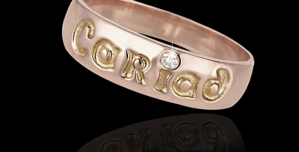 Cariad Diamond Ring Rose Gold 9ct WR162