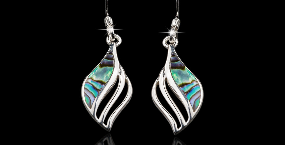 Welsh Design Abalone Shell Celtic Earrings Stirling Silver MX33