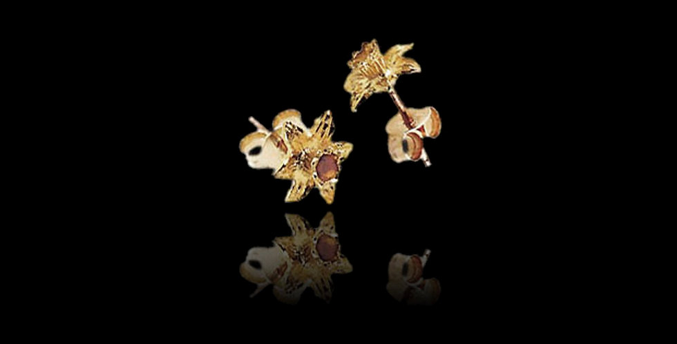 Daffodil Earrings in Cymru Welsh Yellow Gold 9ct WD10