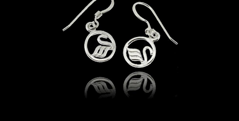 Swansea City AFC Swan Hook Earrings