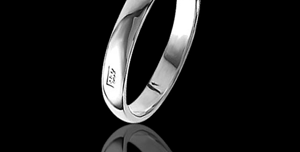 Welsh Feature Hallmark Wedding Ring 9 ct White Gold