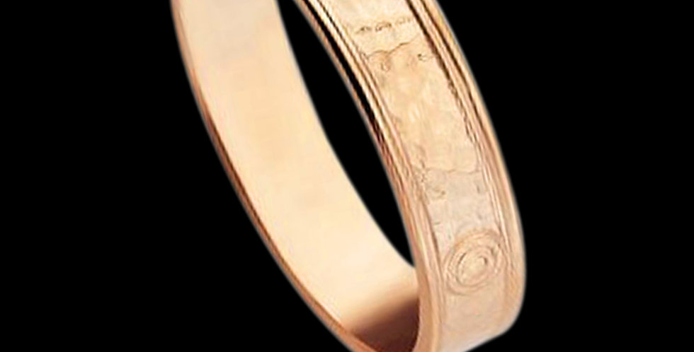 Welsh Gold Hammered Celtic Band Rose Gold 9ct