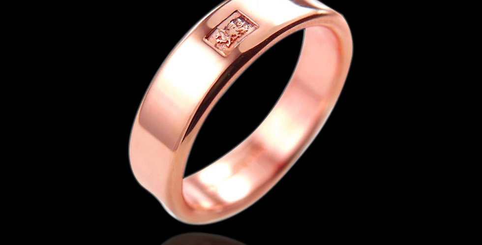 Cymru Welsh Gold Smooth Fit Wedding Ring 9ct Rose Gold WR10D