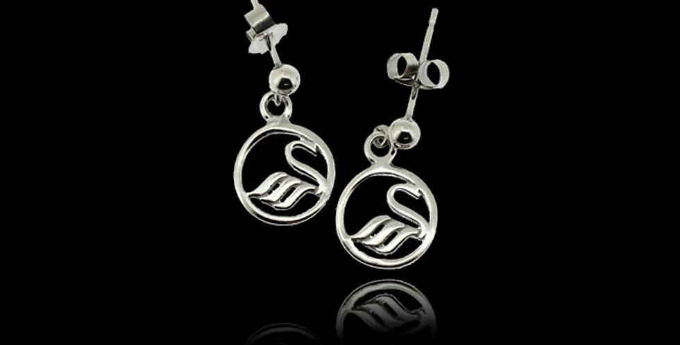 Swansea City AFC Swan Drop Earrings