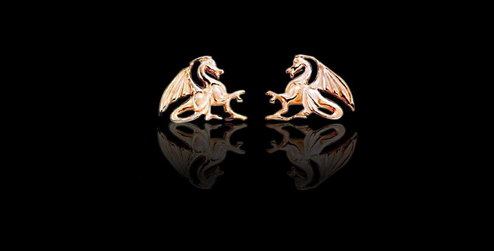 Dragon Earrings Rose Gold 9ct WE23