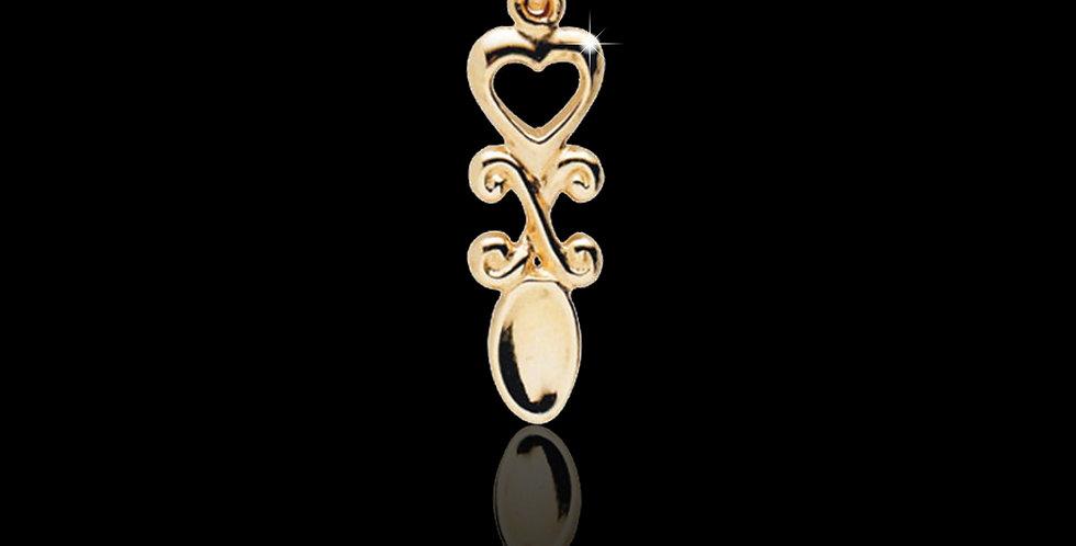 Cymru Gold Welsh Lovespoon Pendant 9ct WP60