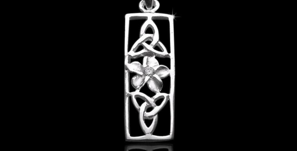 Welsh Design Sterling Silver Daffodil Tablet Pendant P130333
