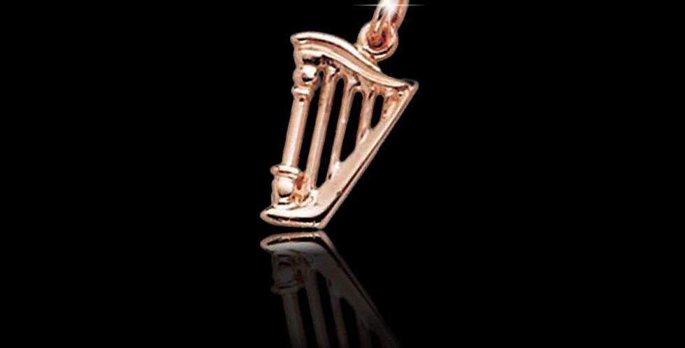 Cymru Gold Welsh Gold Harp Charm 9ct WCH65
