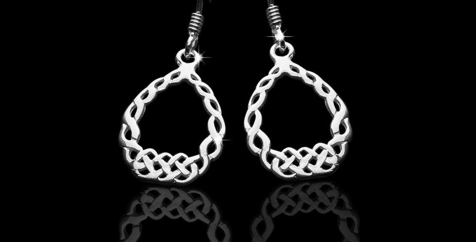 Welsh Design Celtic Drop Earrings Stirling Silver LE070374