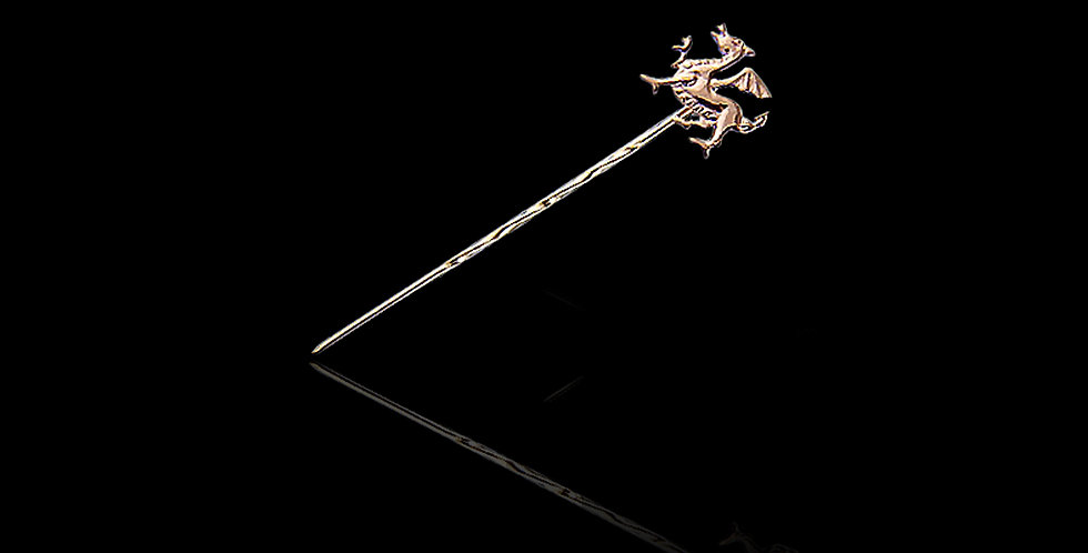 Cymru Welsh Gold Dragon Stick Pin Medium 9ct WSP1
