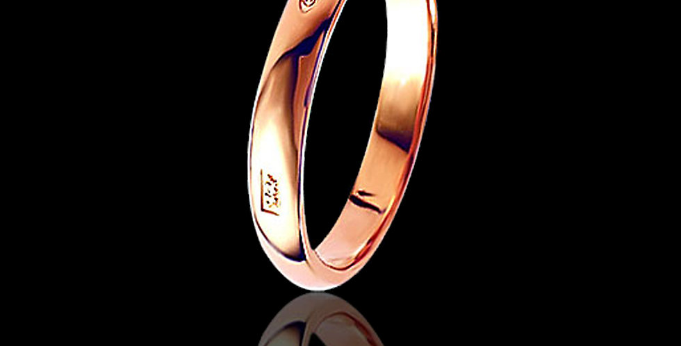 Welsh Feature Hallmark Wedding Ring 9 ct Rose Gold