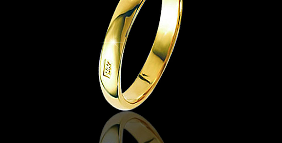 Welsh Feature Hallmark Wedding Ring 18 ct Yellow Gold
