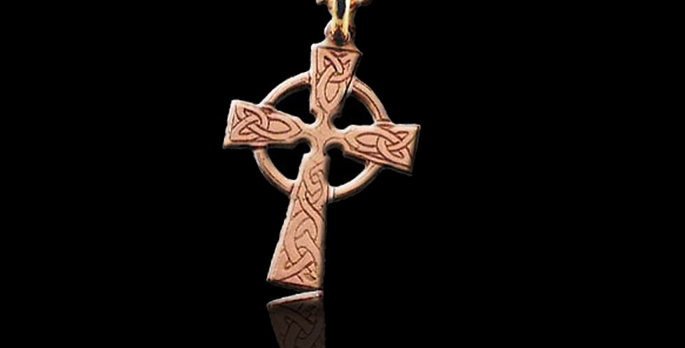 Cymru Gold Celtic Cross Pendant Rose Gold 9ct WP1R