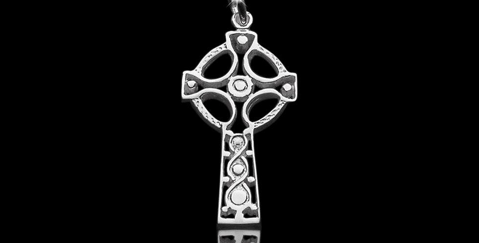 Welsh Design Celtic Cross in Sterling Silver LC060878