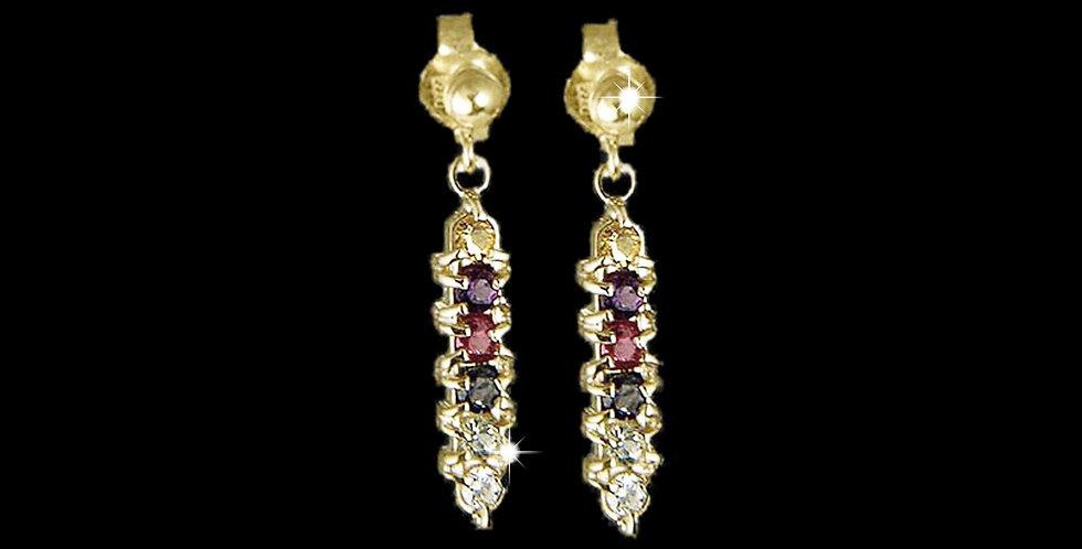 Cymru Gold Cariad Drop Earrings Medium 9ct Yellow Gold Cariad-ES