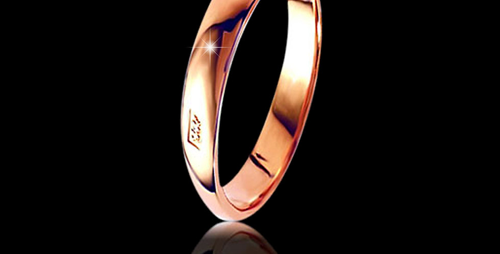 Welsh Dragon Hallmark Wedding Ring 9 ct Rose Gold