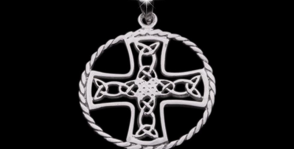 Welsh Design Celtic Cross pendant Sterling Silver P090167