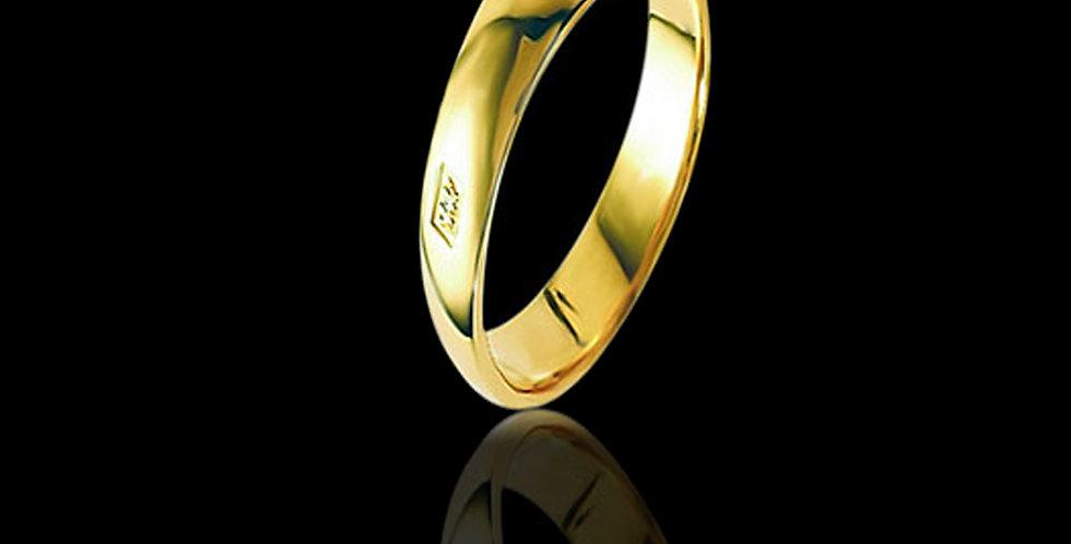 Welsh Dragon Hallmark Wedding Ring 9 ct Yellow Gold