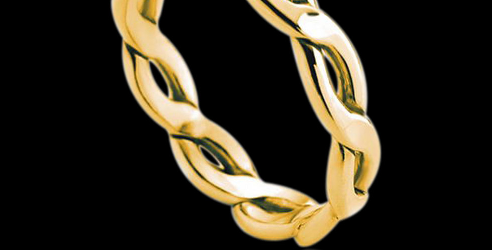 Entwined Lives Wedding Ring Yellow Gold 9ct