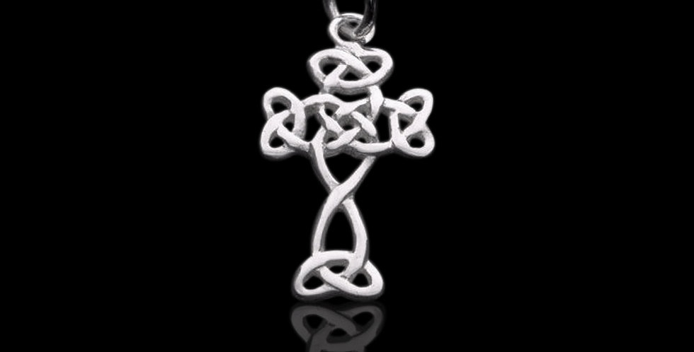 Welsh Design Celtic Knot Cross Pendant Stirling Silver LC071041