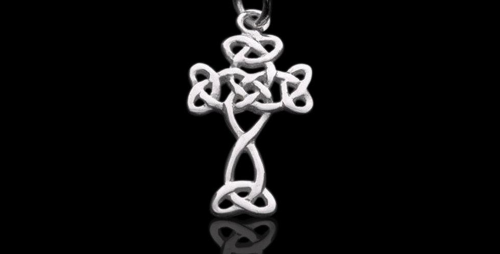Welsh Design Celtic Knot Cross Pendant Stirling Silver LC071041