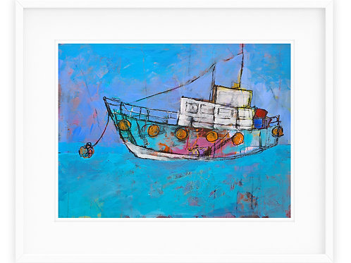 """Limited Edition Framed Giclee Print """"Dreamscape Boat"""""""
