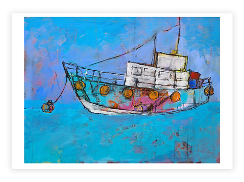 """Unframed Limited Edition Giclee Print """"Dreamscape Boat"""""""