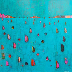 Towards The Island 40cm x 40cm Acrylic on board £650