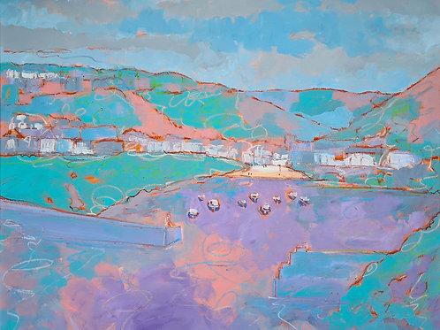 Port Issac in Pastel