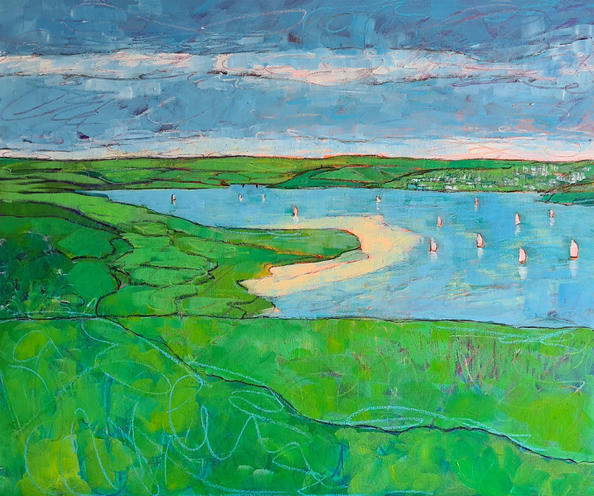 SundayAfternoonOut to Padstow 60cm x 50cm Acrylic on board £900